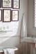 "4 x 8 sheets of 2"" beaded birch veneer paneling, painted white"