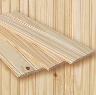 "Knotty Pine Beaded Wainscoting Kit - approximate finished dimensions: 37""H x 96""W with chair rail and base rail"