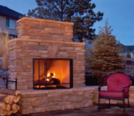 Finally, an affordable Outdoor Fireplace system, where you supply the stone/brick facade and a fireplace and chimney, too, if you like