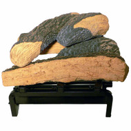 4-piece outdoor fire pit logs and burner