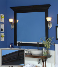 Mirror Frame with accessory Roanoke Cap.  Keystone & Dentil Molding