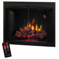 39EB500GRS Operable Glass Door Electric Fireplace Insert by Classic Flame | 39""