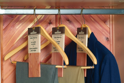 Cedar hanger Hook Ups for aromatic protection