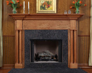 Princeville Traditional Fireplace Mantel with Vermillion Brown Granite
