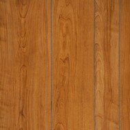 Williamsburg Cherry random plank and grooved paneling