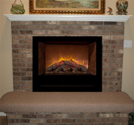 Slide the HF42 into an existing fireplace to give an entirely new look to your fireplace.  Shown with our Manassas mantel shelf