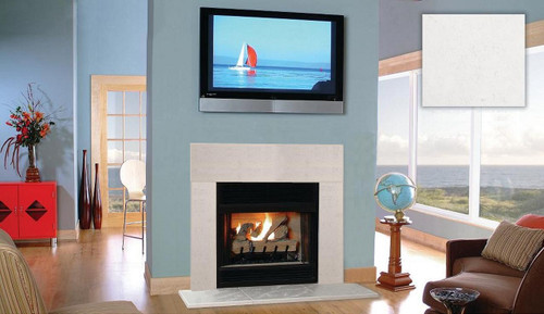 Tuscany White Linen Fireplace Surround Facing, hearth, legs and header
