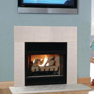 Tuscany White Linen cast fireplace surround facing set