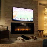 AL60CLX Electric Fireplace, installed at a traditional fireplace height