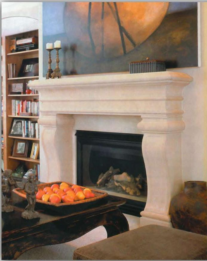Thin Cast Stone Fireplace Mantel Surround Large Avant