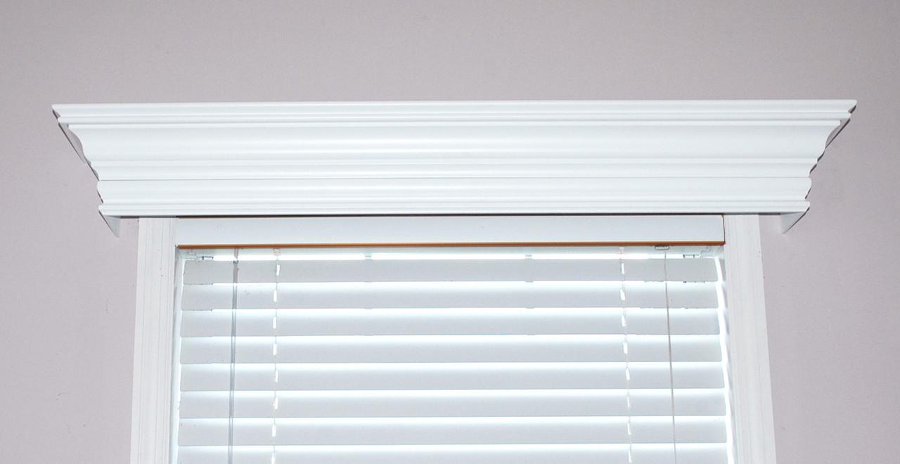 Ashland Custom Wood Cornice Window Treatment