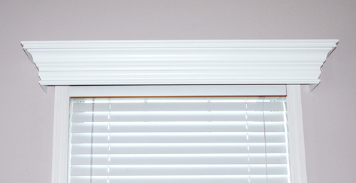 White Wood Cornice : Ashland custom wood cornice window treatment