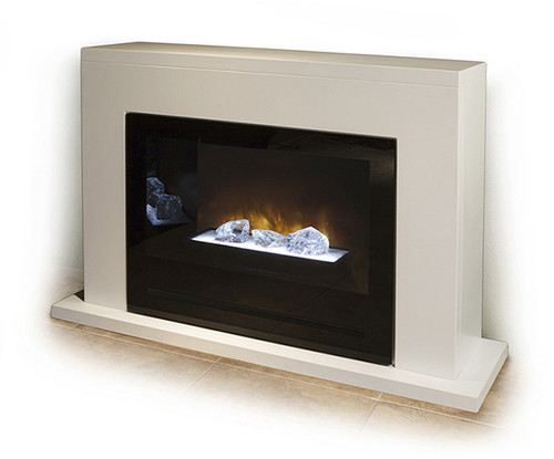 The Neptune modern mantel was designed for use with the HF36 electric  fireplace by Modern Flames - Neptune Modern Mantel Modern Flames Fireplace Insert HF36