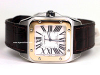 Cartier Watch - Santos 100 Large, Steel & Yellow Gold
