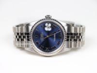 Rolex Watch- Datejust - 16220 - Blue Dial, Roman Numerals