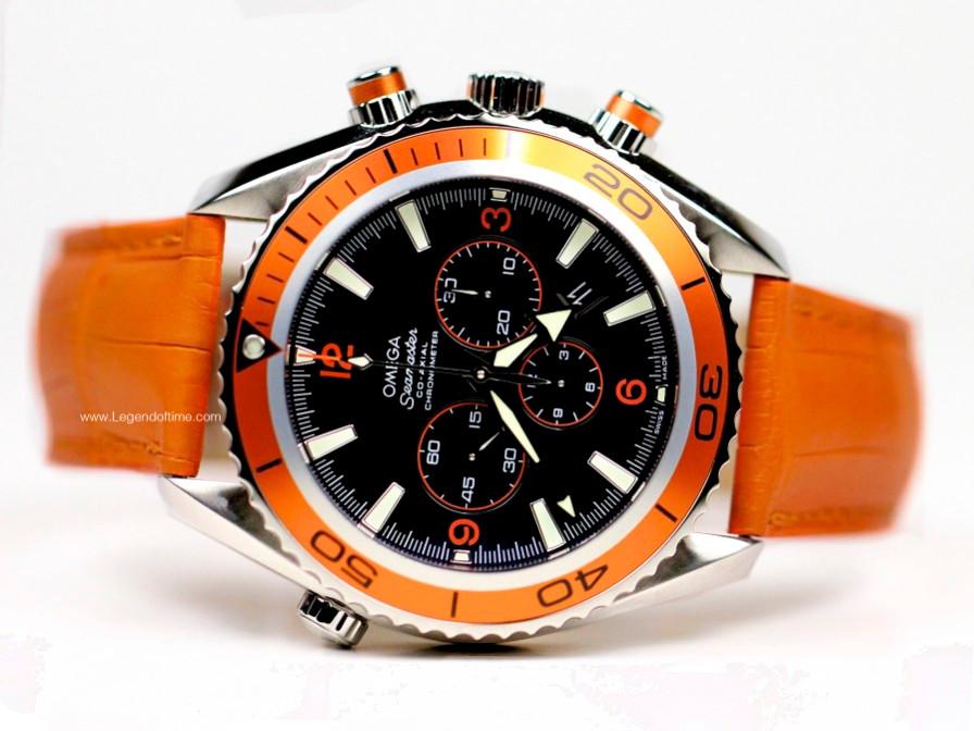 omega seamaster planet orange bezel mens swiss