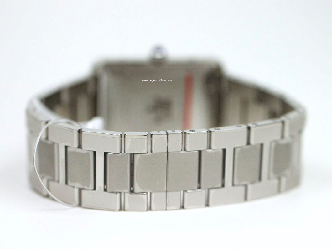 Steel Folding Clasp - Cartier Watch - Tank Solo XL Stainless Steel Bracelet W5200028 - New - www.Legendoftime.com - Chicago Watch Center