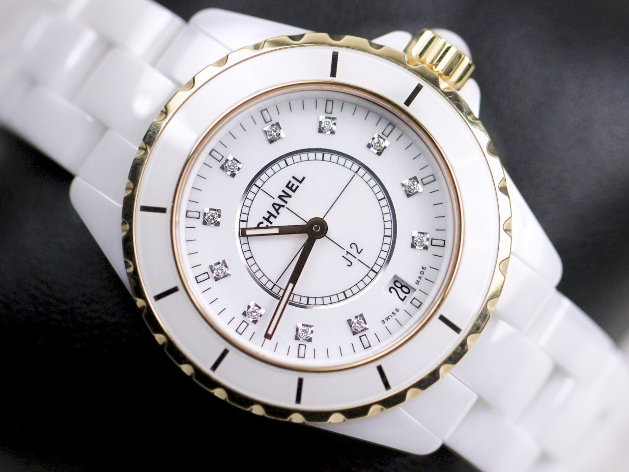 watches authentic ceramic chanel diamond white watch