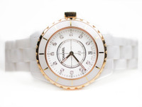 Chanel Watch - J12 White Ceramic & Rose Gold