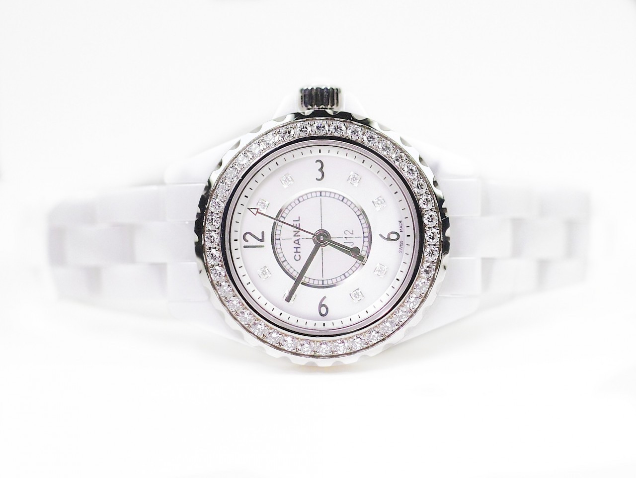 bezel chanel watches white watch ladies diamond ceramic