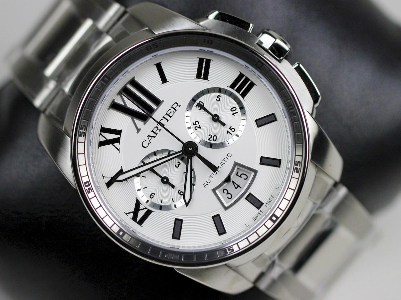 Cartier Watches Caliber De Cartier Chronograph Steel Mens ...