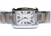Cartier Watch - Tank Anglaise Pink Gold & Steel