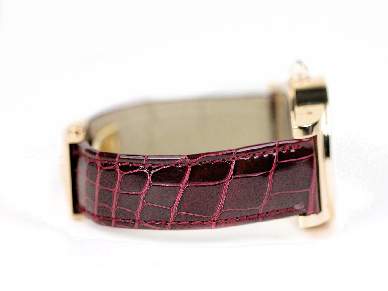 Lacquered Burgundy Leather Strap - de Grisogono Watch - Tondo RM N52/A  - Legend of Time - Chicago Watch Center