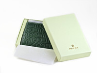 Rolex Wallet Money Clip Watch Accessory Green Embossed Leather - www.Legendoftime.com - Chicago Watch Center