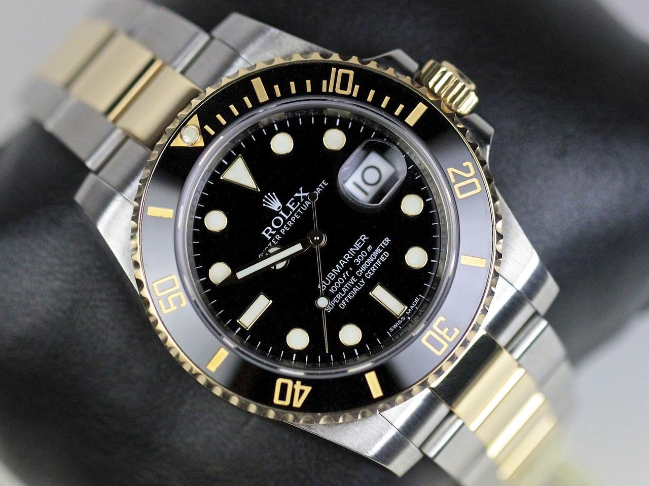 Dial & Bezel Detail - Rolex Watch Submariner Steel and Gold 116613 - www. Legendoftime.com - Chicago Watch Center