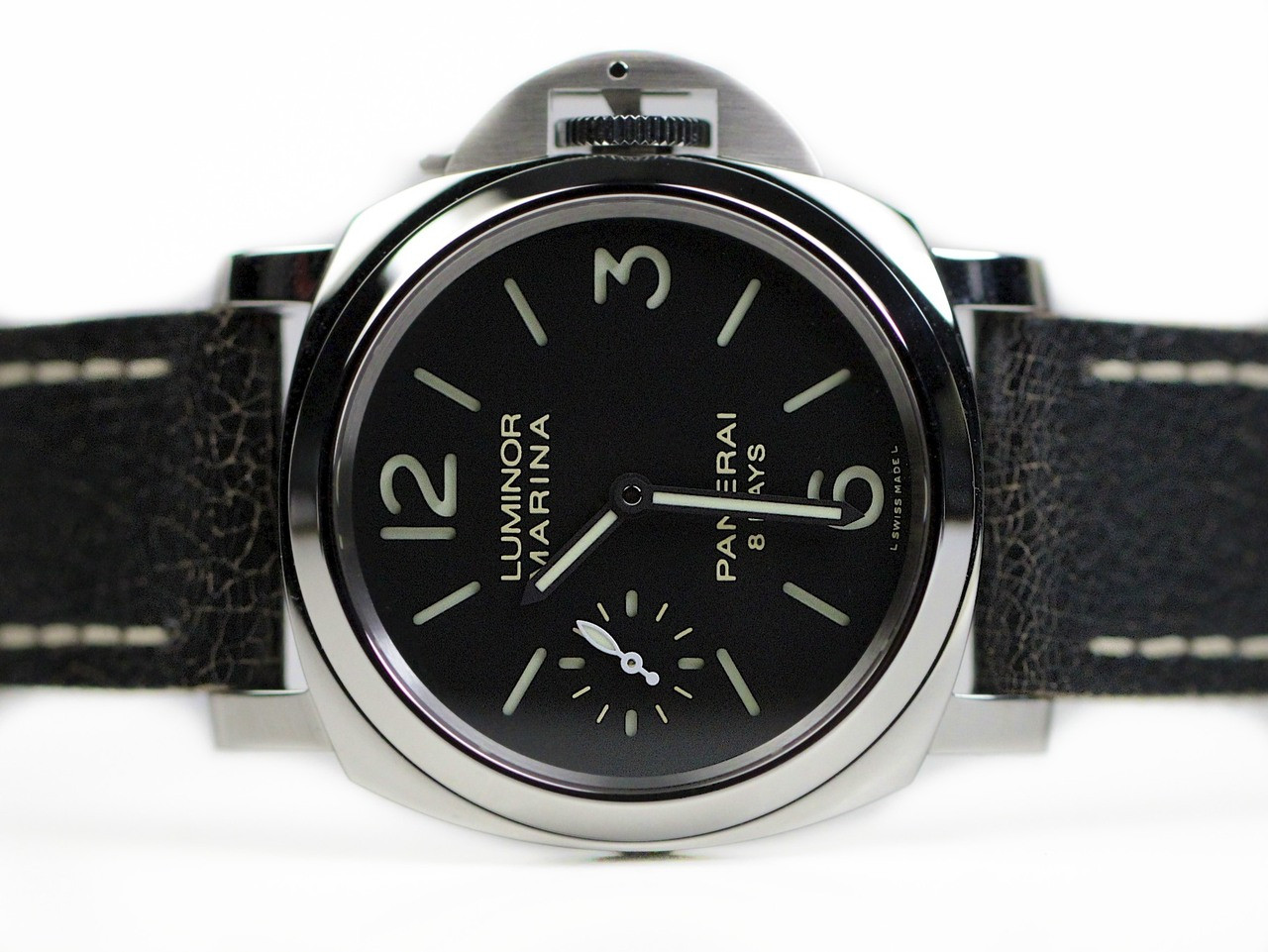 panerai watch mens men mechanical days pre base watches acciaio owned preowned s luminor
