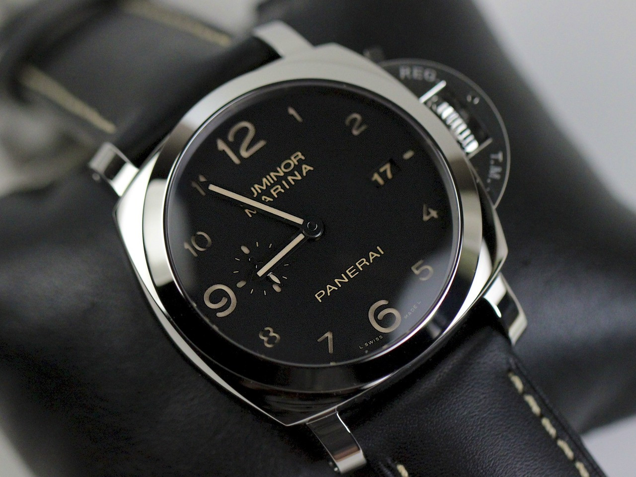 black panerai watch radiomir watches ceramica officine dial mens image s men manual