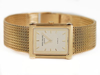 "For sale Vintage Patek Philippe Rectangular Gubelin Gold ""Les Grecques"" 3775 available in stock online www.Legendoftime.com and in Chicago Watch Center - Legend of Time"