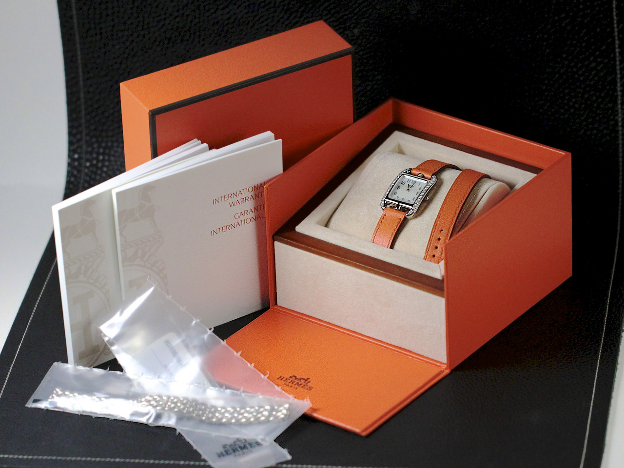 Complete Box & Papers - Hermes Watch - Cape Cod White Gold with Diamonds, Pre-Owned, www.Legendoftime.com - Chicago Watch Center