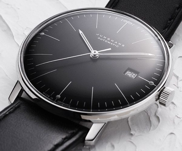 junghans watch 027 max bill automatic black dial. Black Bedroom Furniture Sets. Home Design Ideas