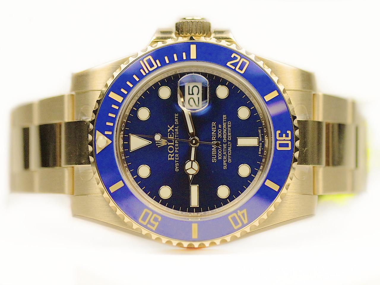 Rolex Submariner Blue Gold Price