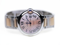 Cartier Watch - BALLON BLEU Pink Mother of Pearl Dial Steel and Rose Gold W6920033 for sale online www.Legendoftime.com and in store Chicago Watch Center