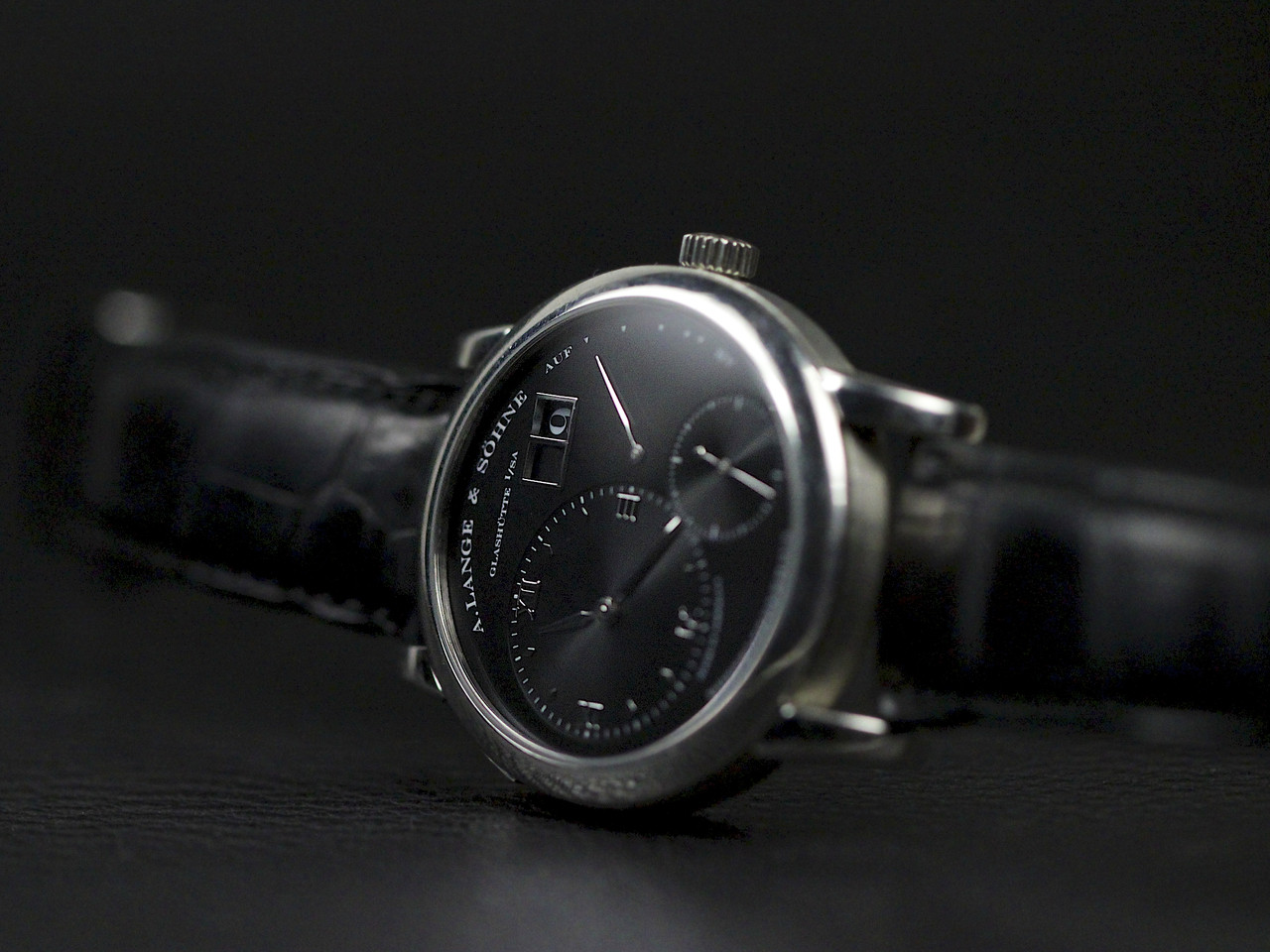 A Lange & Sohne Watch - Lange 1 Black Darth Dial 101.035 pre-owned for sale Legend of Time - Chicago Watch Center