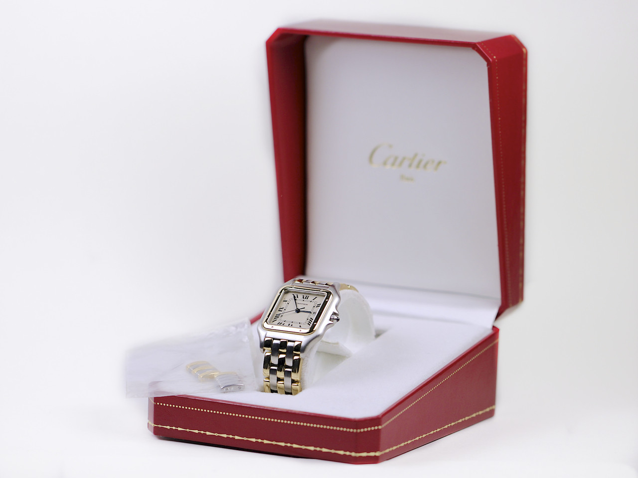 Cartier Watch - Panthere Jumbo Steel 18K Yellow Gold Three Row - for sale online www.Legendoftime.com and in store in Chicago Watch Center