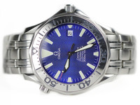 Omega Watch - Seamaster 300M Steel Blue Dial 20558000 used for sale online www.Legendoftime.com and in store in Chicago Watch Center