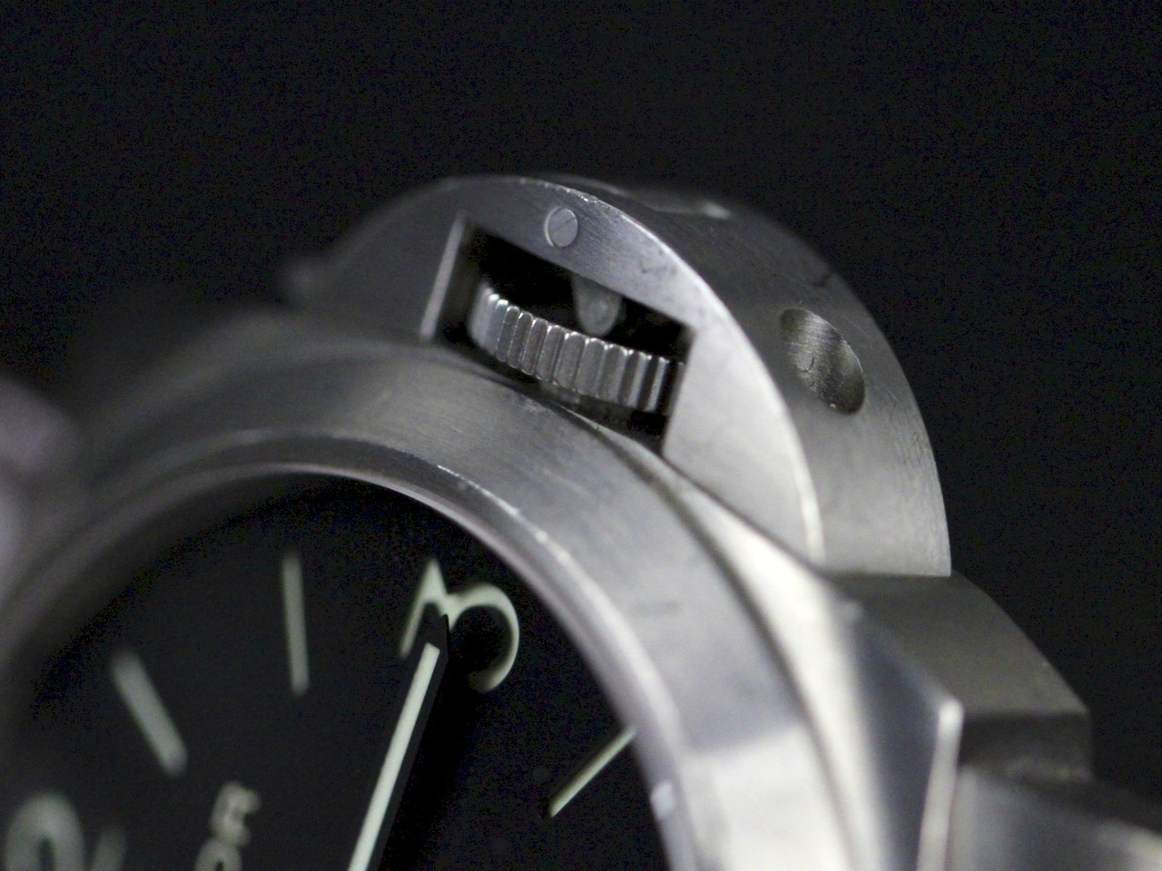 Panerai Trademark Protective Crown Guard - Pre-owned Panerai Watch - Luminor Base PAM00176 Titanium available for sale Legend of Time - Chicago Watch Center