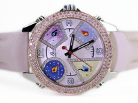 Jacob & Co Watch - Five Time Zone JCM-41DA Pink, White & Black  Diamonds -online www.Legendoftime.com and in store in Chicago Watch Center