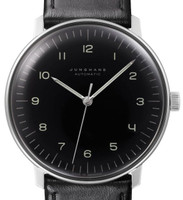 New for sale  Junghans Watch Max Bill Automatic Black Dial Numerals by Junghans 027/3400.00 - available to purchase online www.Legendoftime.com and in store at Chicago Watch Center
