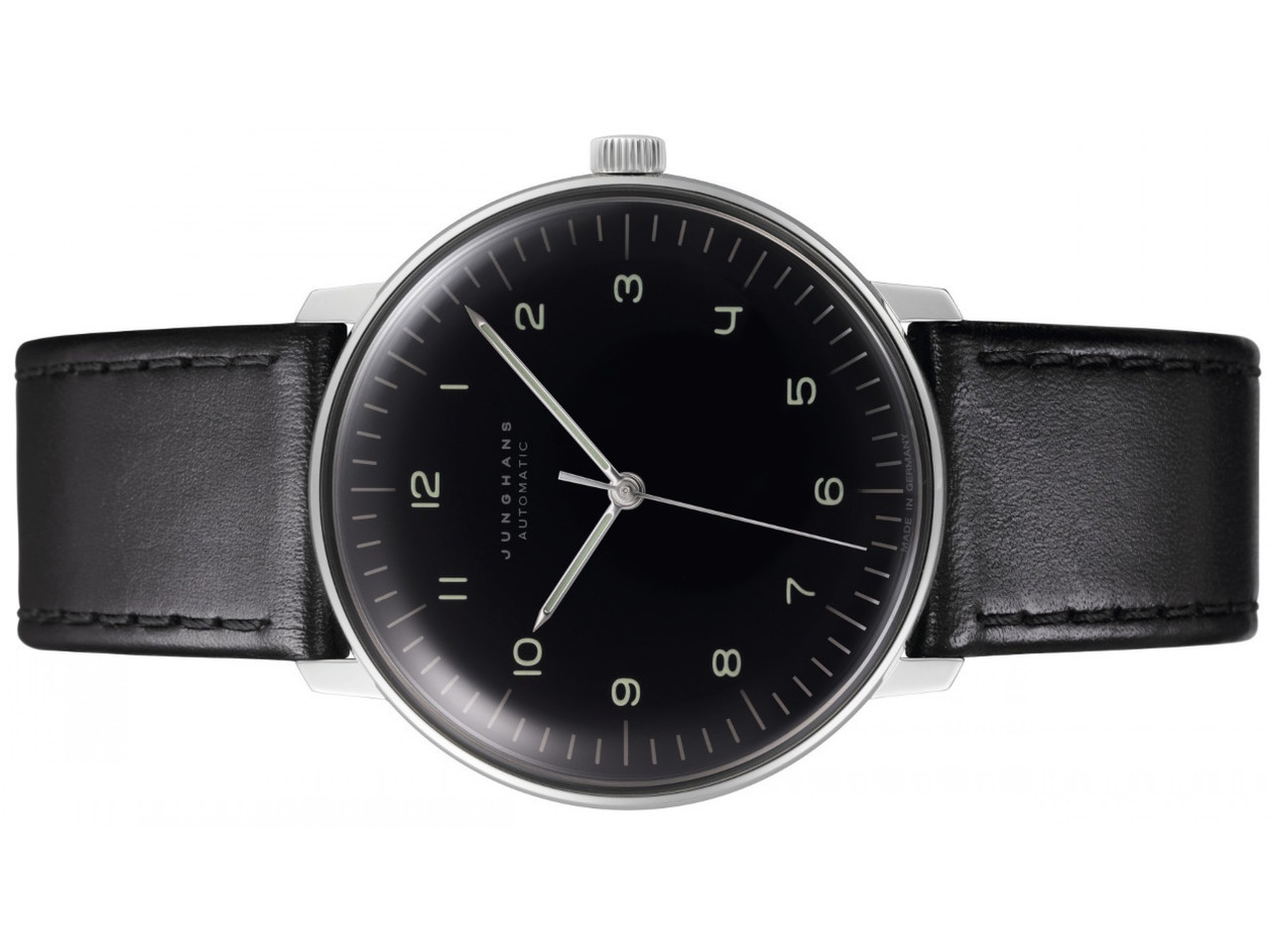 junghans watch max bill chronoscope black dial date 027. Black Bedroom Furniture Sets. Home Design Ideas
