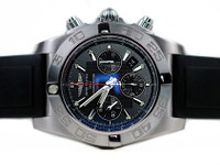 For sale used stainless steel Breitling Watch - Chronomat 44 Flying Fish Chronograph Date AB11010/BB08-131S, Black Dial, Complete - available online www.Legendoftime.com & in store Legend of Time - Chicago Watch Center