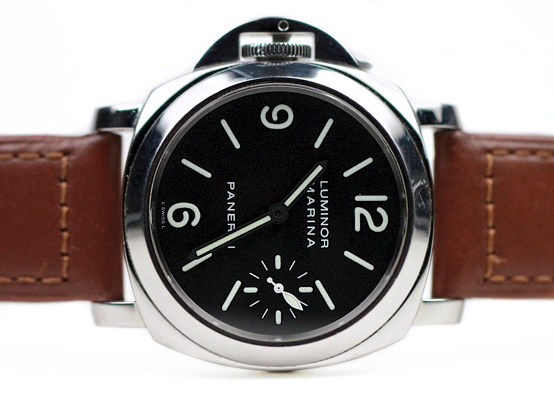 For sale used Panerai Watch - Rare Limited Edition Destro Left Handed Luminor Marina PAM 115, available online www.Legendoftime.com and in store Legend of Time - Chicago Watch Center