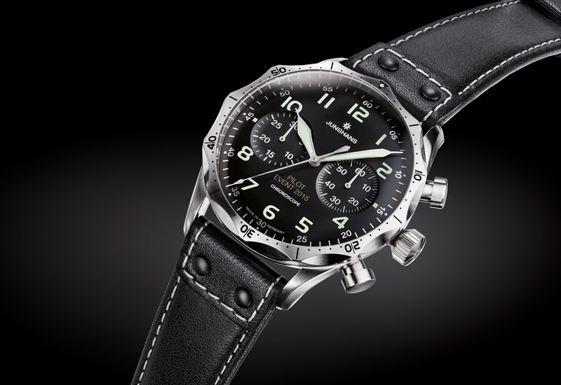 New for sale Limited Edition -  Junghans Watch Meister Pilot Chronoscope Black Dial Numerals  027/3593.00 - available online www.Legendoftime.com and in store Legend of Time Chicago Watch Center