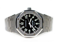 For sale used very Rare Audemars Piguet Watch Royal Oak Black Military Dial 14790ST.0.0789ST.07  in Stainless Steel, available in store and online www.Legendoftime.com
