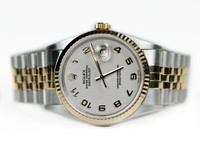 For sale used Rolex Watch - Datejust 36mm Yellow Gold and Steel Ivory Jubilee Dial 16233 ijaj, available online www. Legendoftime.com and in store Chicago Watch Center