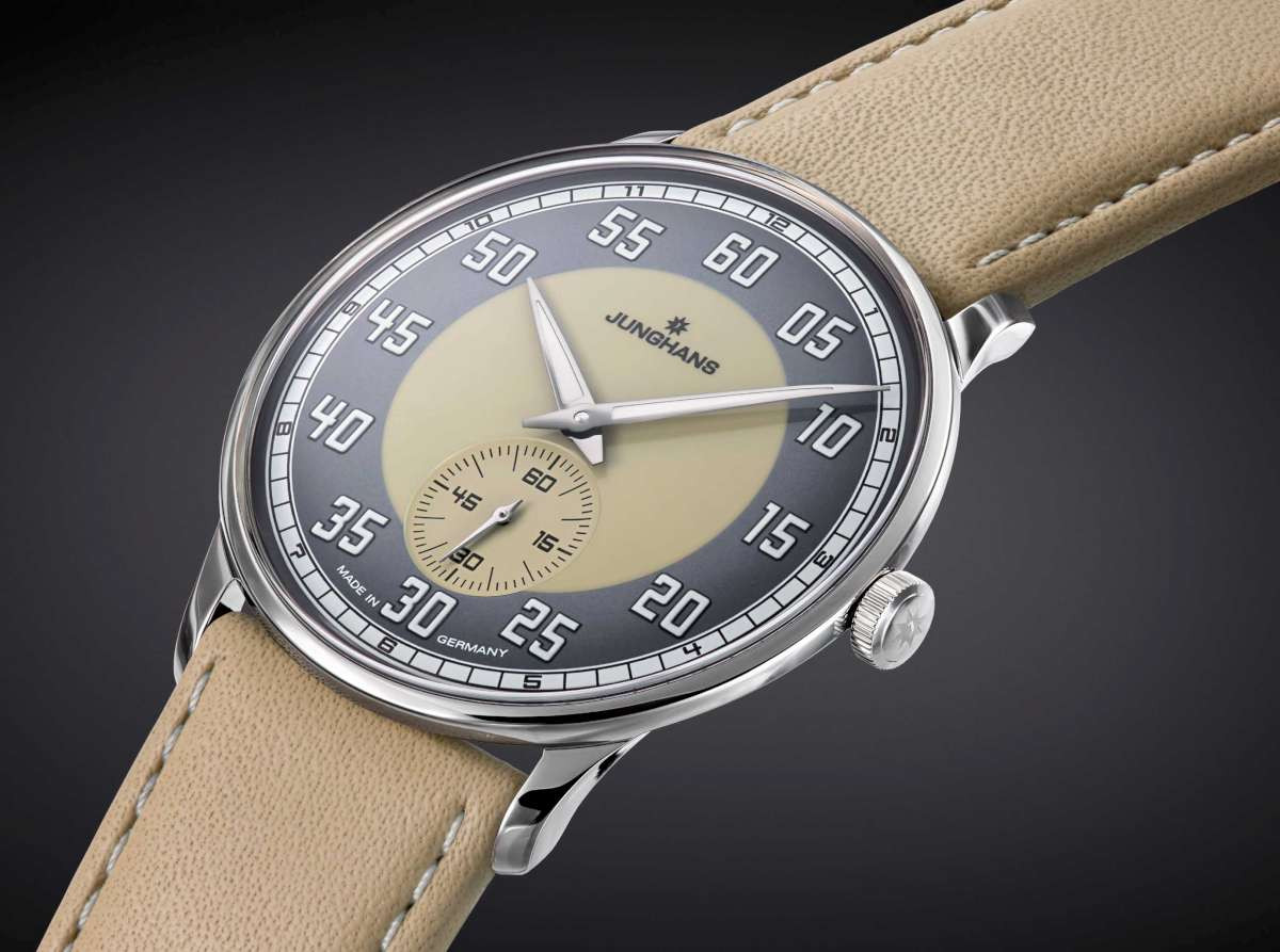 Vintage style dial Junghans Watch Meister Driver Handwound Sand Colored Dial 027/3607.00