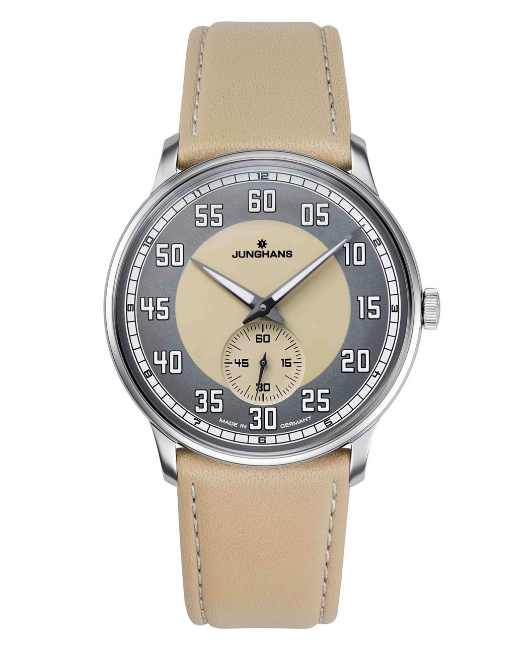 Junghans Watch Meister Driver Handwound Sand Colored Dial 027/3607.00